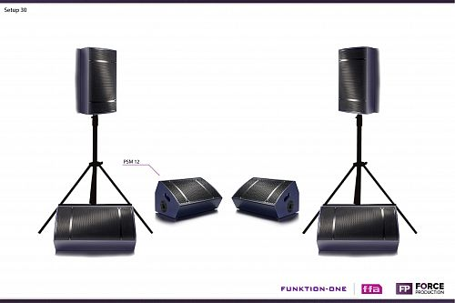 Funktion One - Setup 30 - PSM 12 stage monitor systems