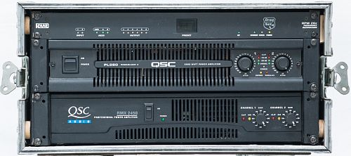 QSC Amp Rack with Rane Processor Small